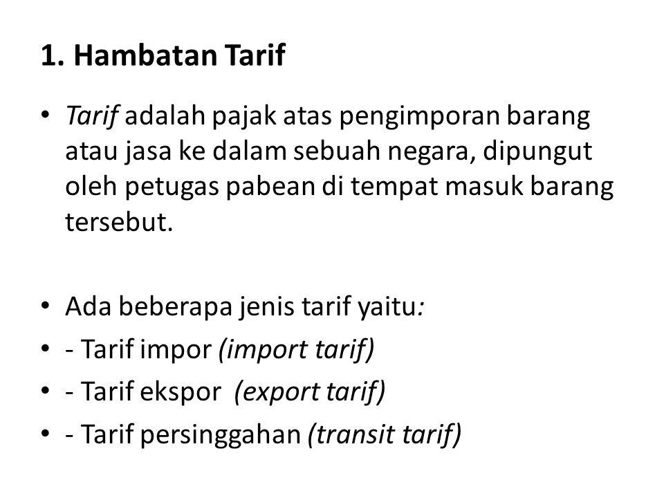 1. Hambatan Tarif