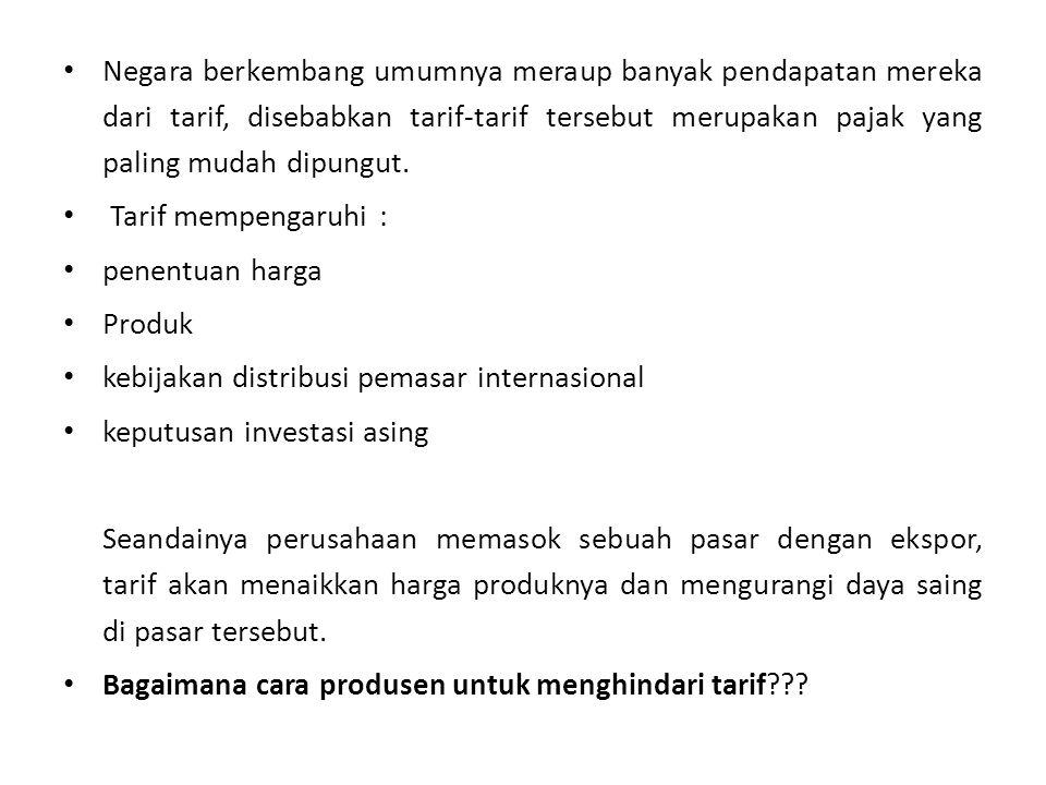 kebijakan distribusi pemasar internasional keputusan investasi asing