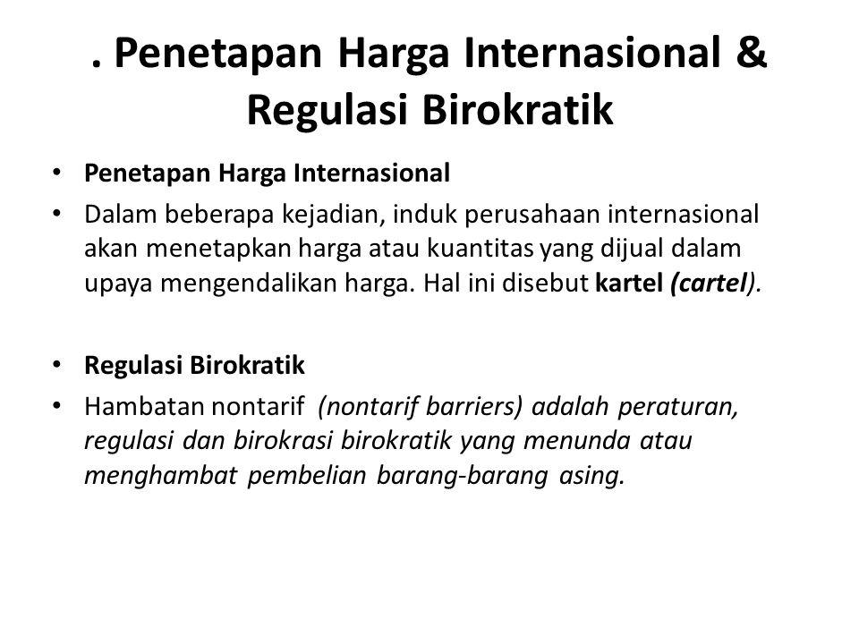 . Penetapan Harga Internasional & Regulasi Birokratik