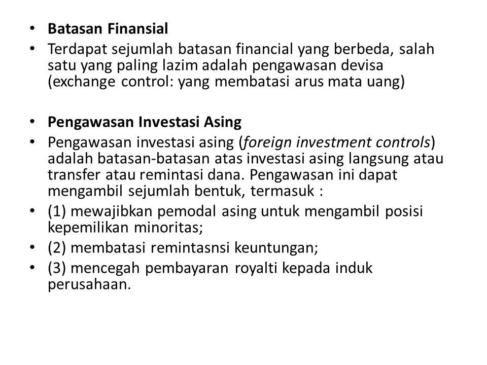 Pengawasan Investasi Asing