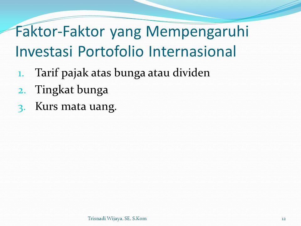 Faktor-Faktor yang Mempengaruhi Investasi Portofolio Internasional