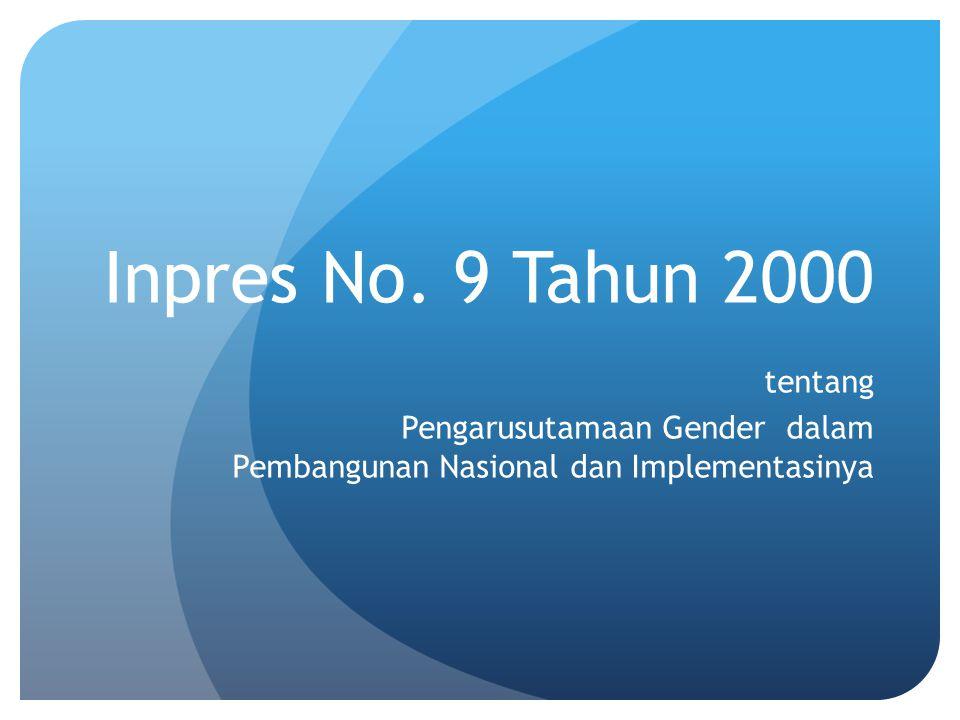 Inpres No. 9 Tahun 2000 tentang