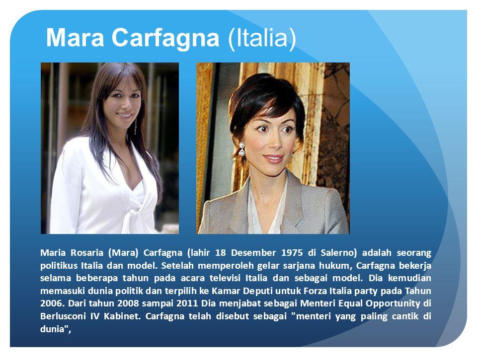 Mara Carfagna (Italia)