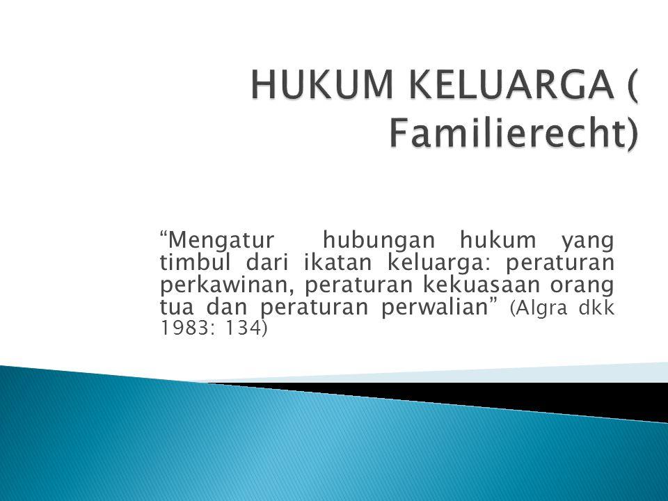 HUKUM KELUARGA ( Familierecht)