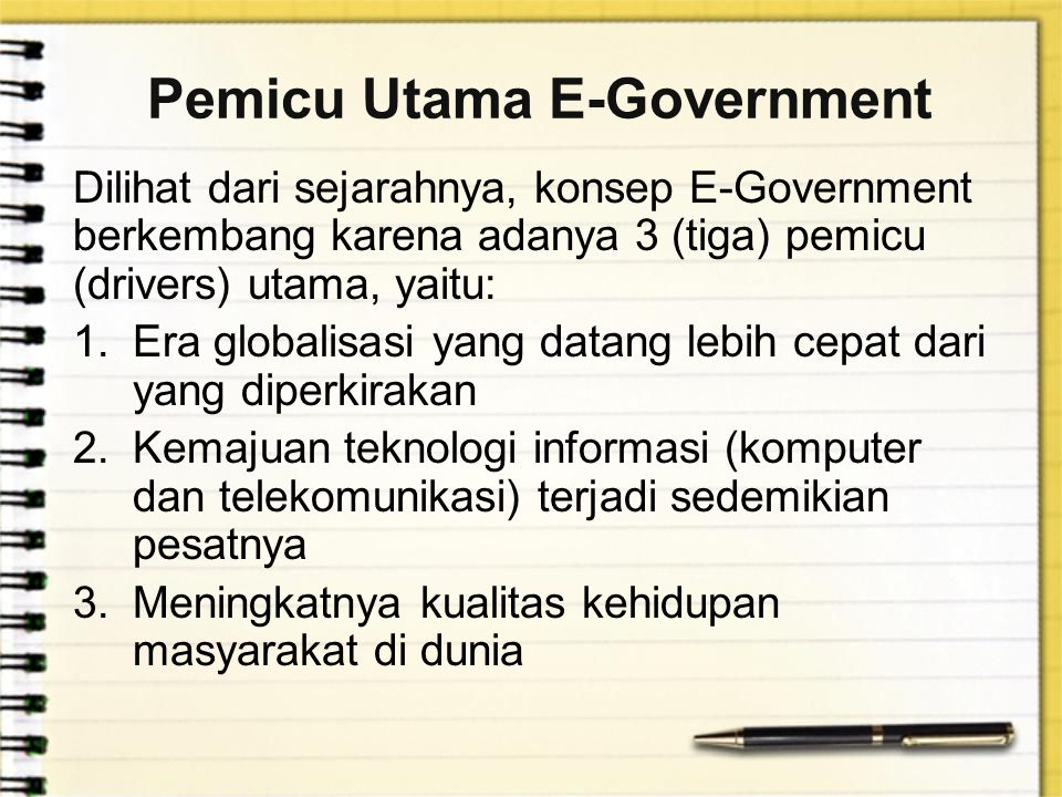 Pemicu Utama E-Government