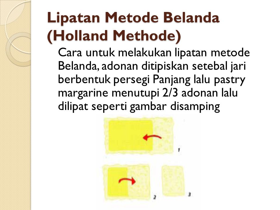 Lipatan Metode Belanda (Holland Methode)