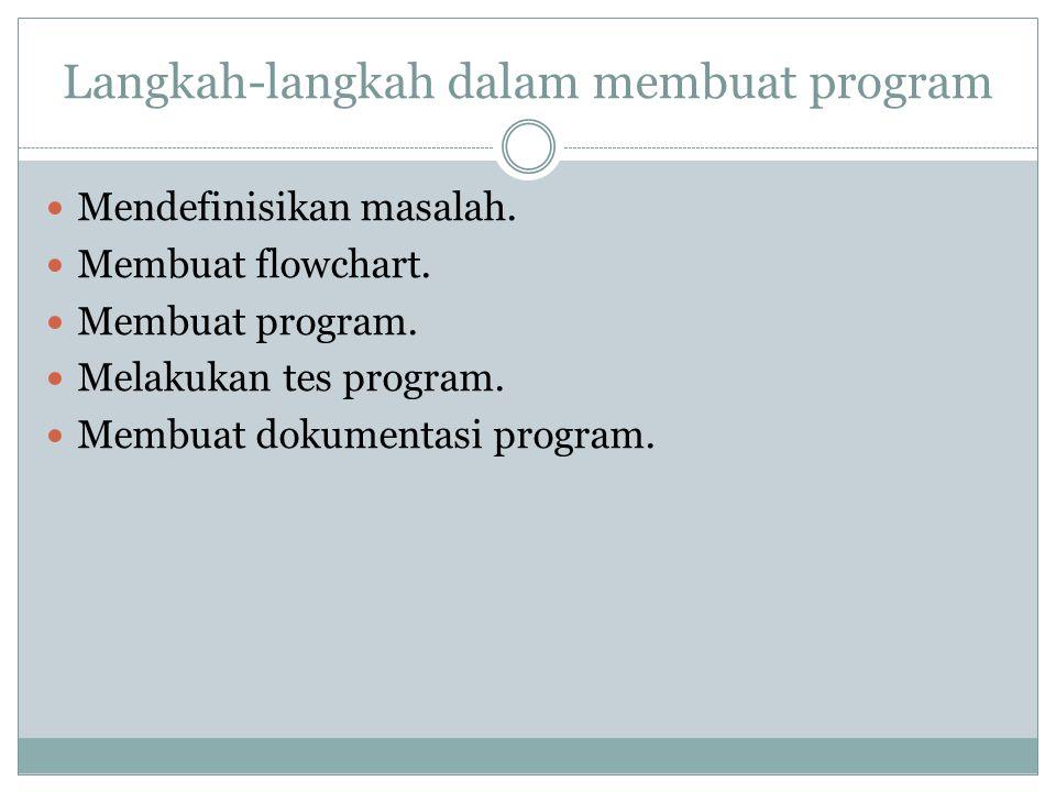 Langkah-langkah dalam membuat program