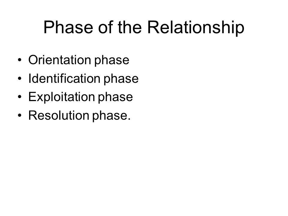 Phase of the Relationship