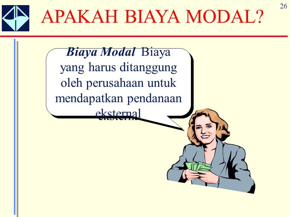 APAKAH BIAYA MODAL.