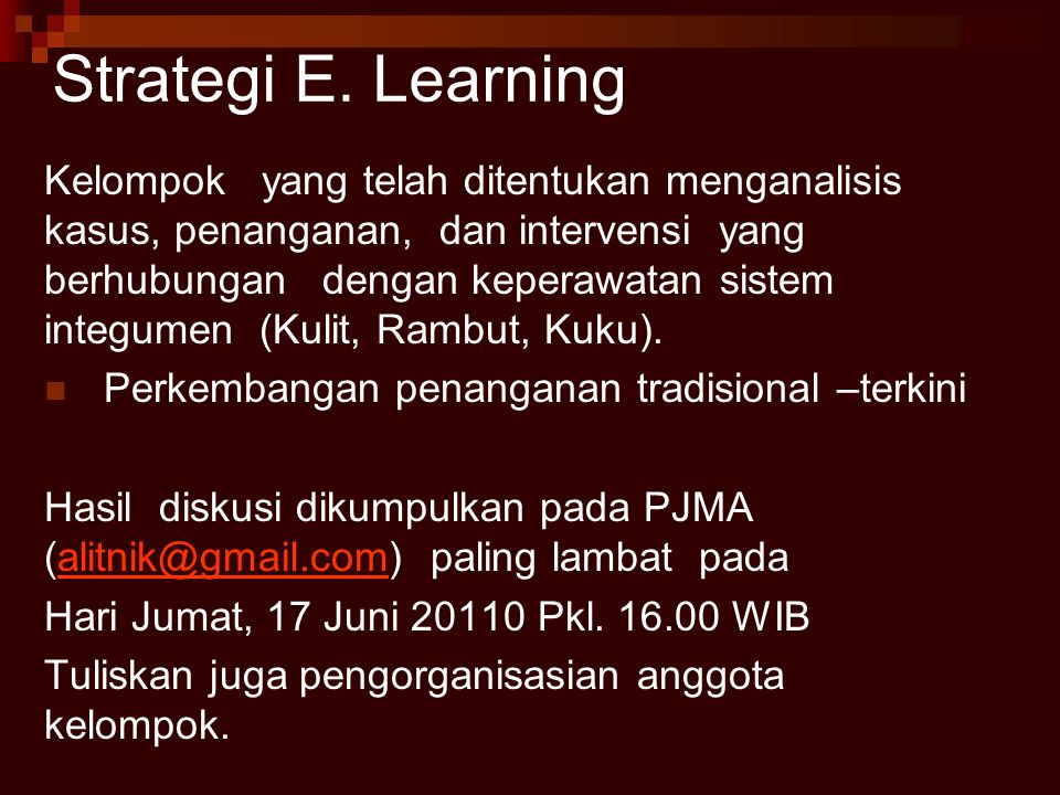 Strategi E. Learning