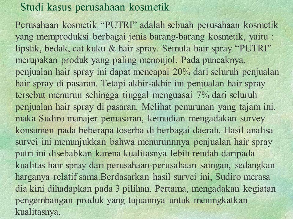 Studi kasus perusahaan kosmetik