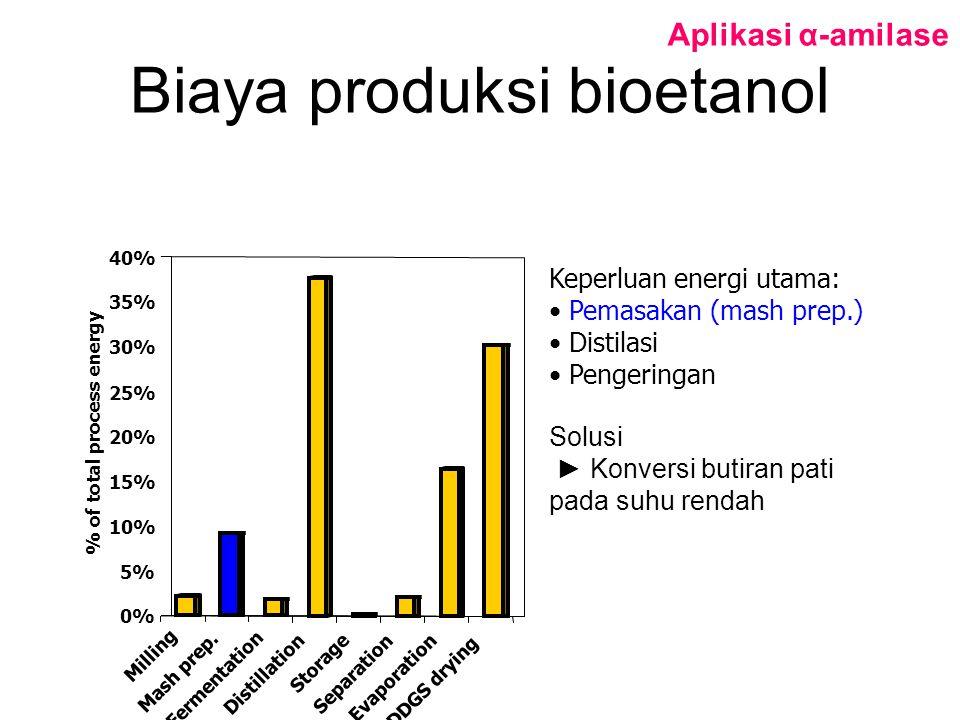 Biaya produksi bioetanol