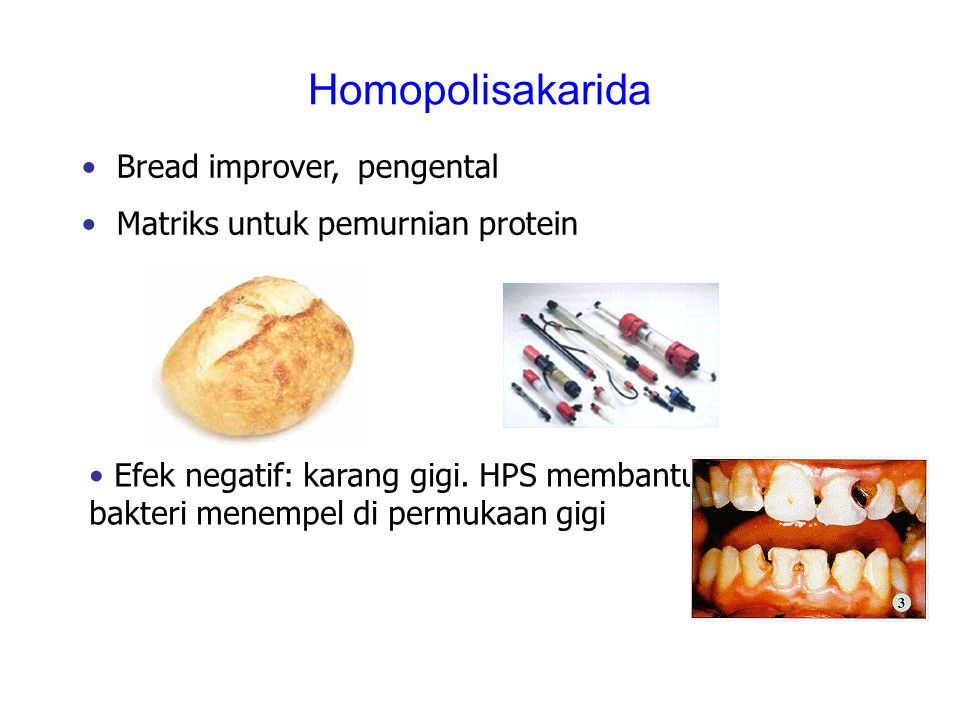 Homopolisakarida Bread improver, pengental