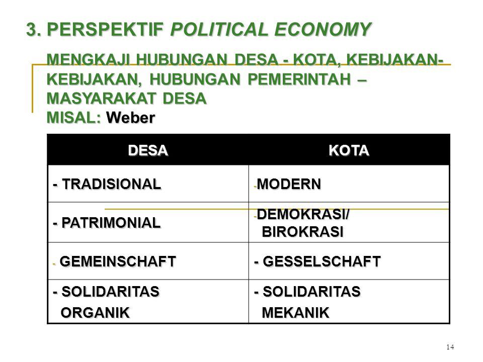 3. PERSPEKTIF POLITICAL ECONOMY