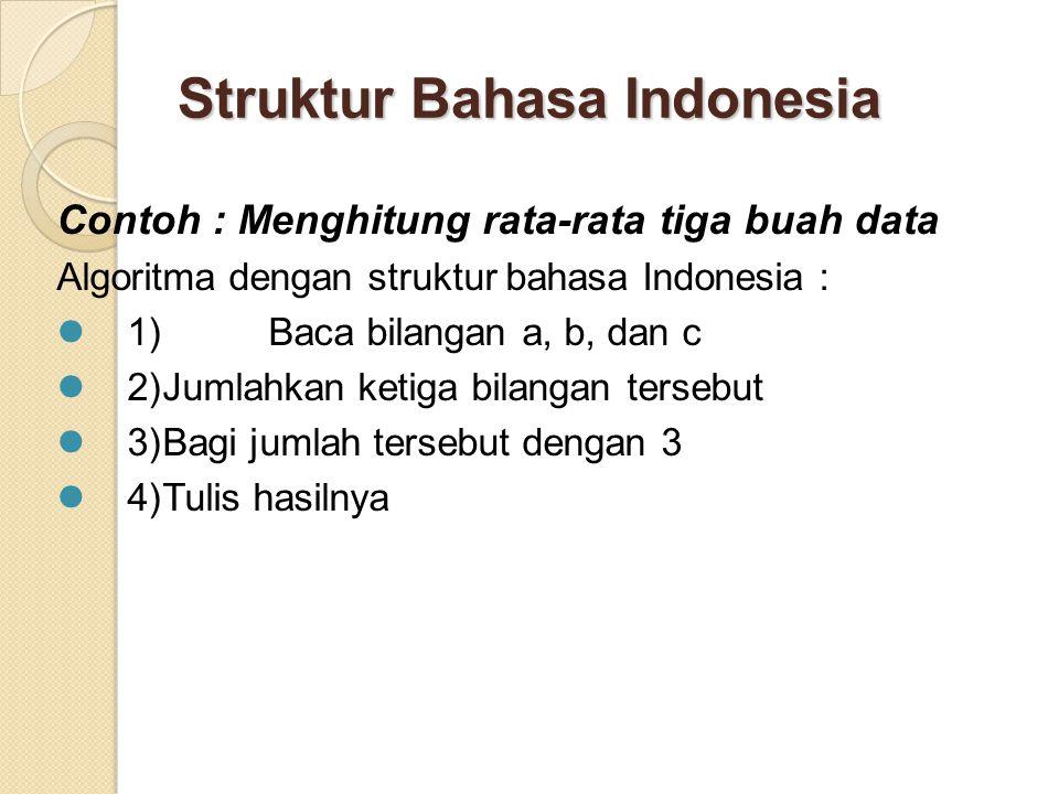 Struktur Bahasa Indonesia