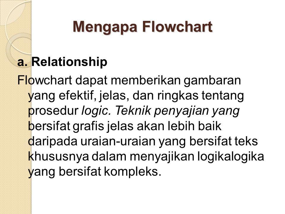 Mengapa Flowchart a. Relationship