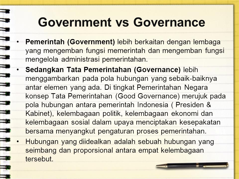 Government vs Governance