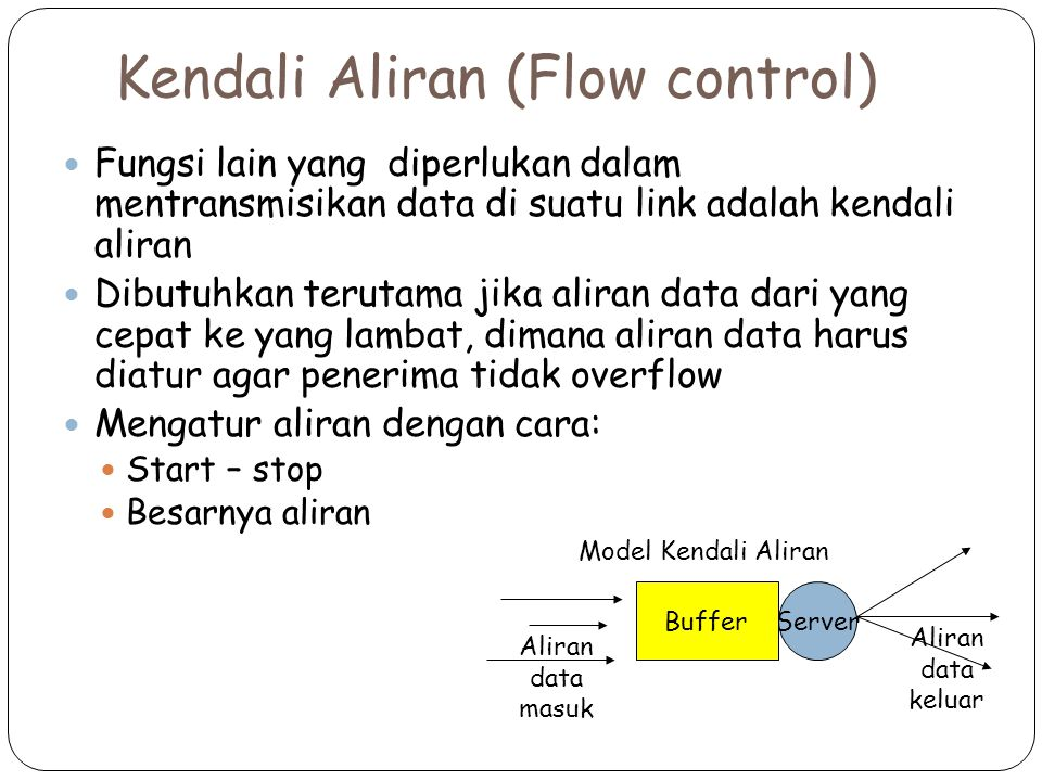 Kendali Aliran (Flow control)