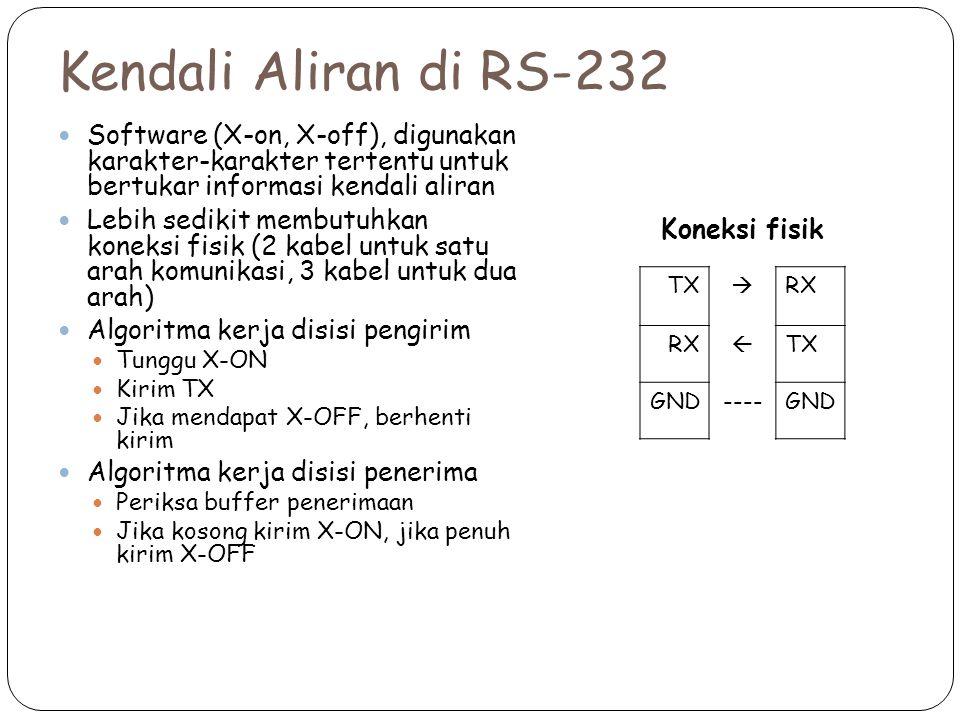 Kendali Aliran di RS-232 Koneksi fisik