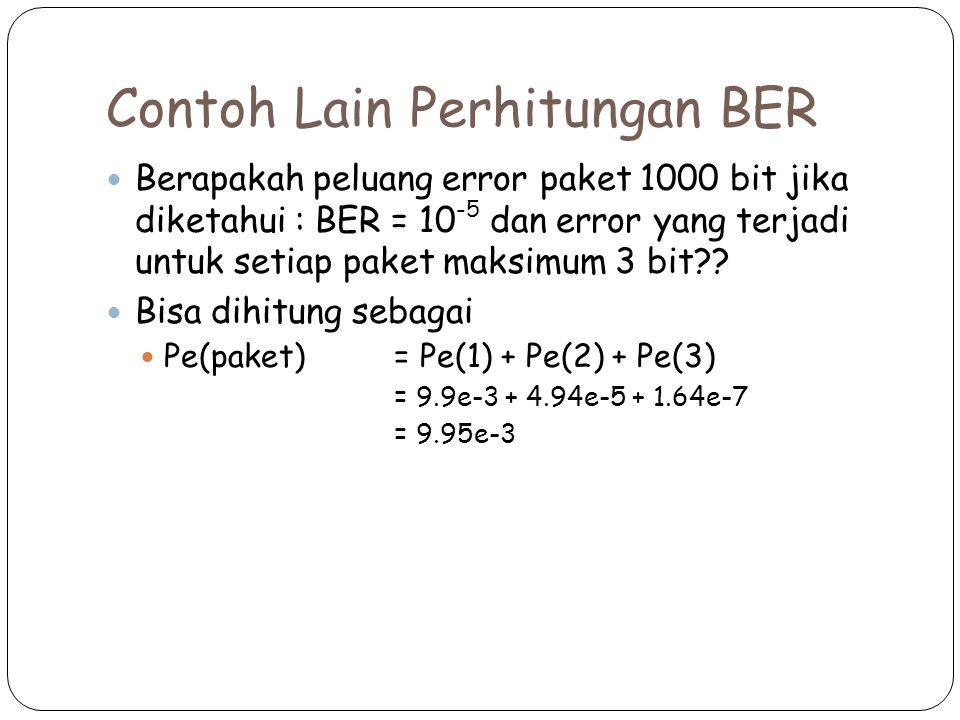 Contoh Lain Perhitungan BER
