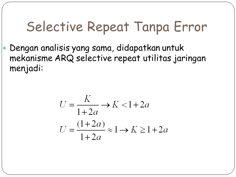 Selective Repeat Tanpa Error