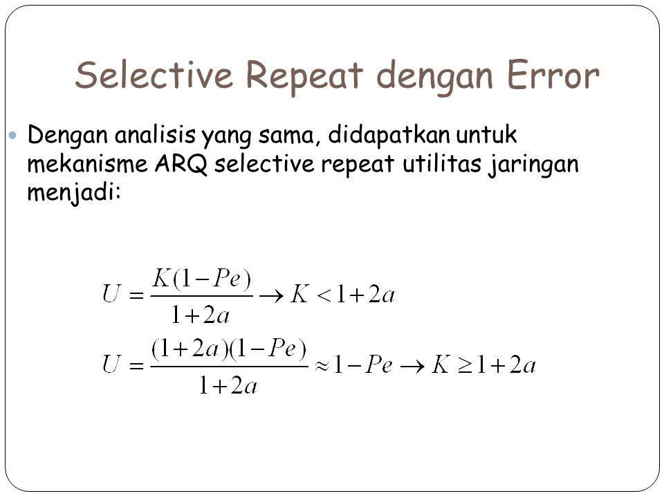 Selective Repeat dengan Error