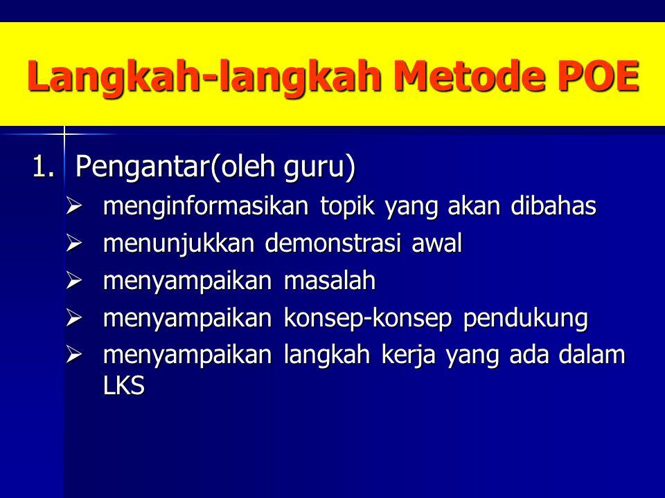Langkah-langkah Metode POE