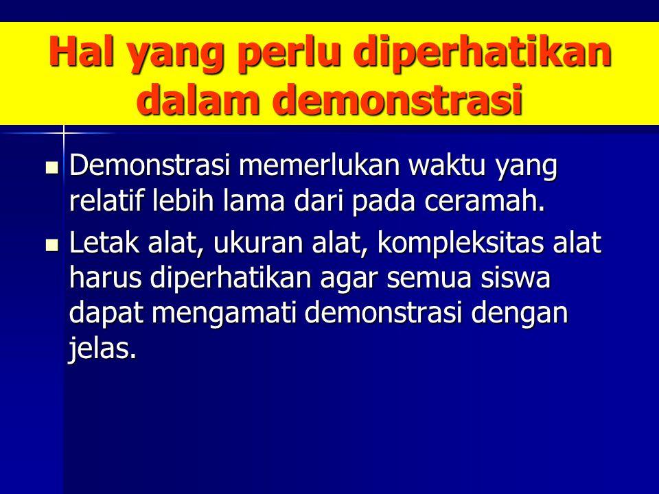 Hal yang perlu diperhatikan dalam demonstrasi