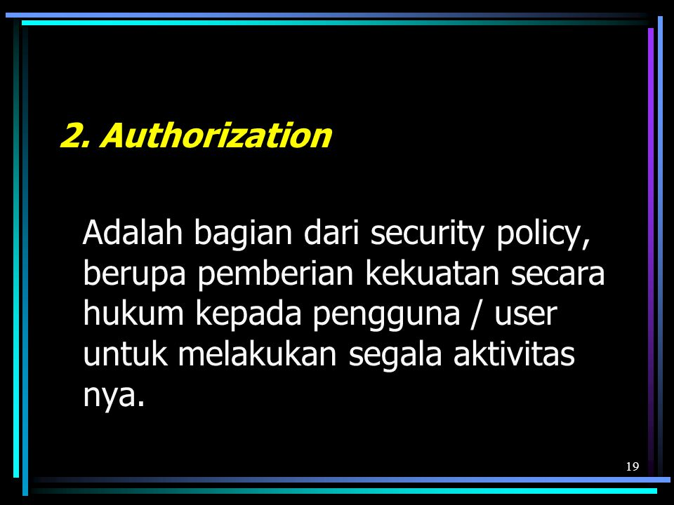 2. Authorization