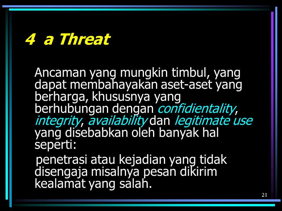 4 a Threat