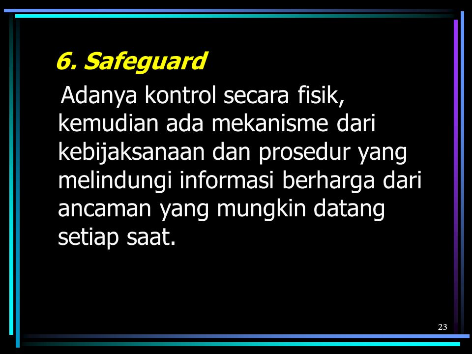 6. Safeguard