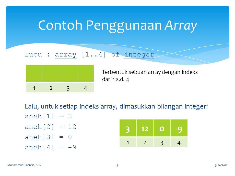 Contoh Penggunaan Array