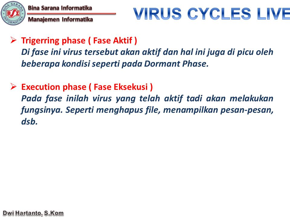 VIRUS CYCLES LIVE Trigerring phase ( Fase Aktif )