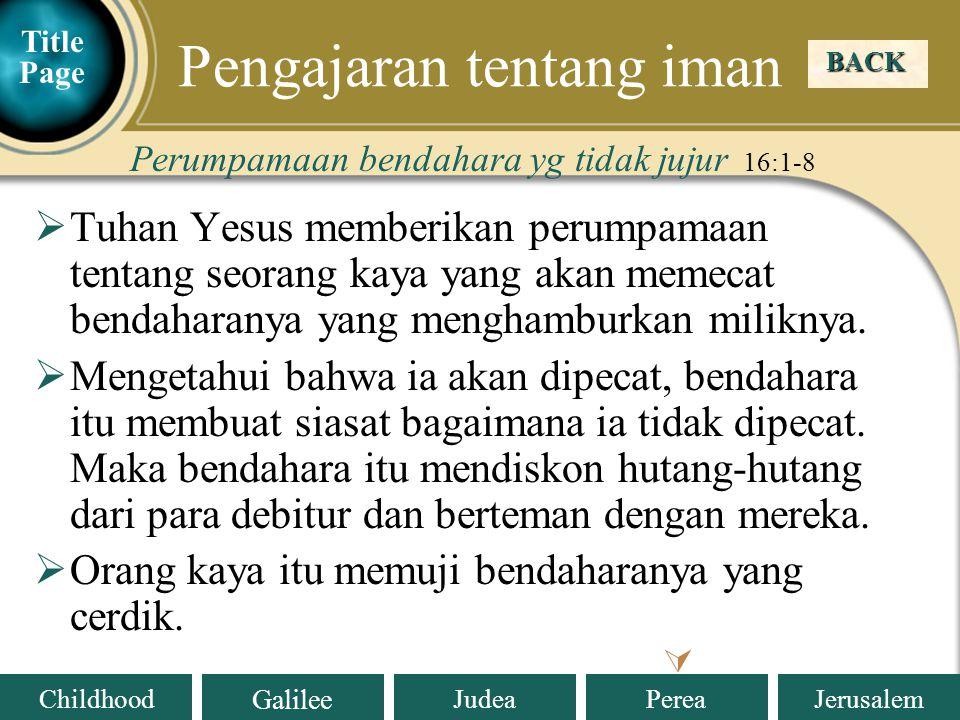 Pengajaran tentang iman