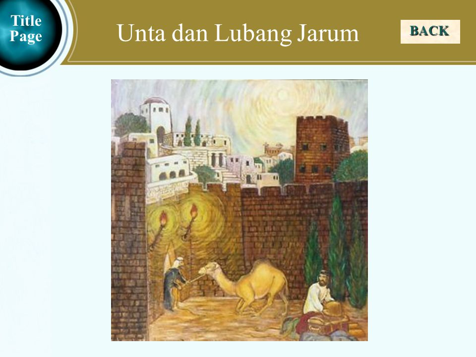 Unta dan Lubang Jarum Title Page BACK