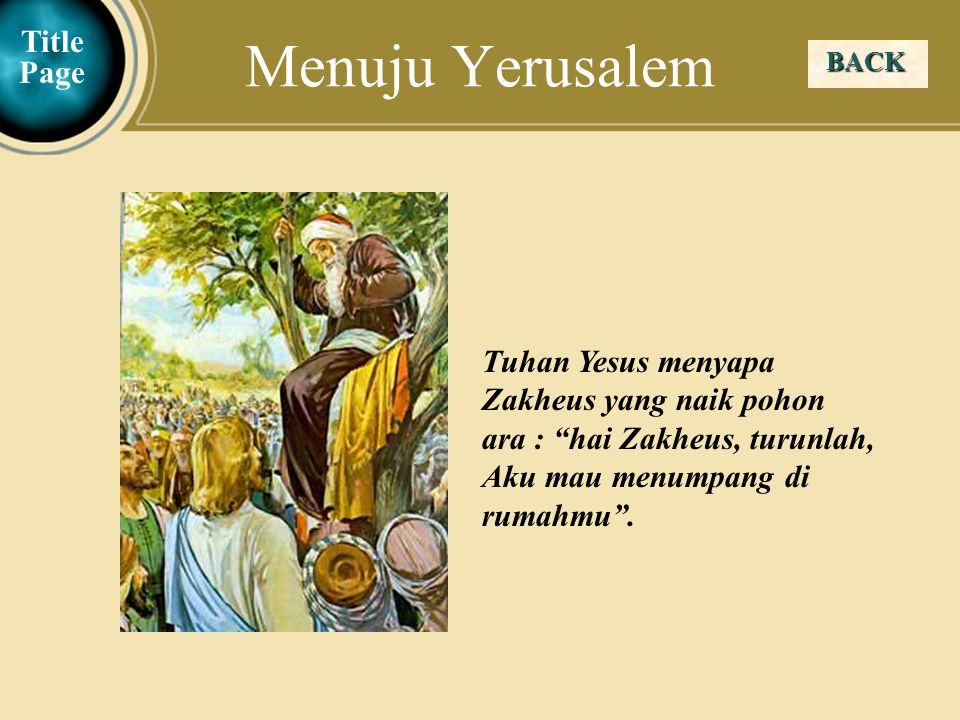Menuju Yerusalem Title Page