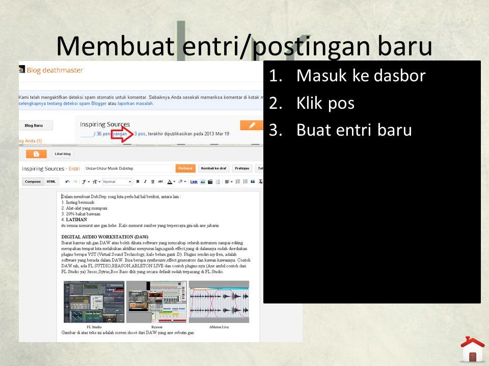 Membuat entri/postingan baru