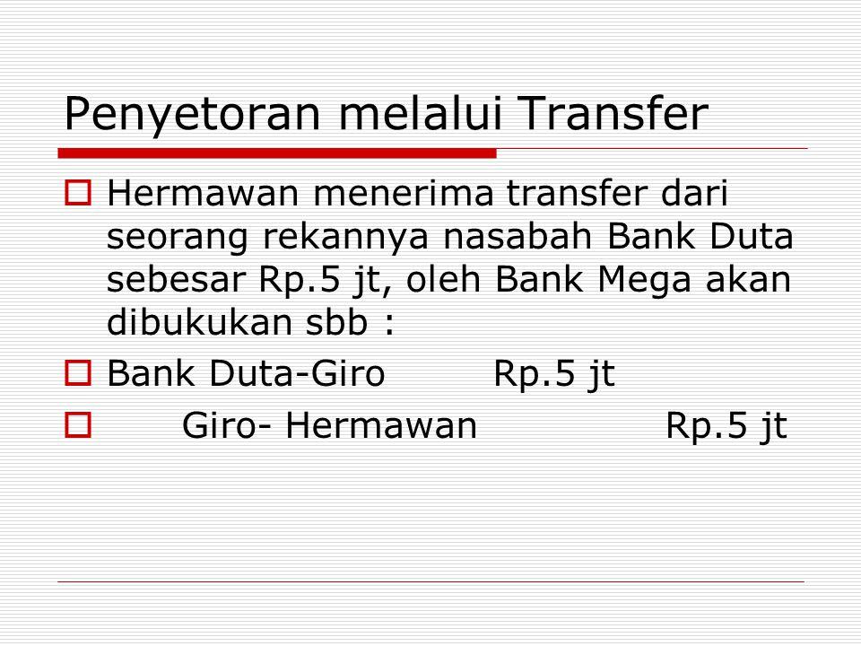 Penyetoran melalui Transfer