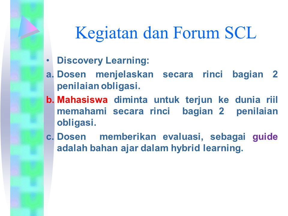 Kegiatan dan Forum SCL Discovery Learning: