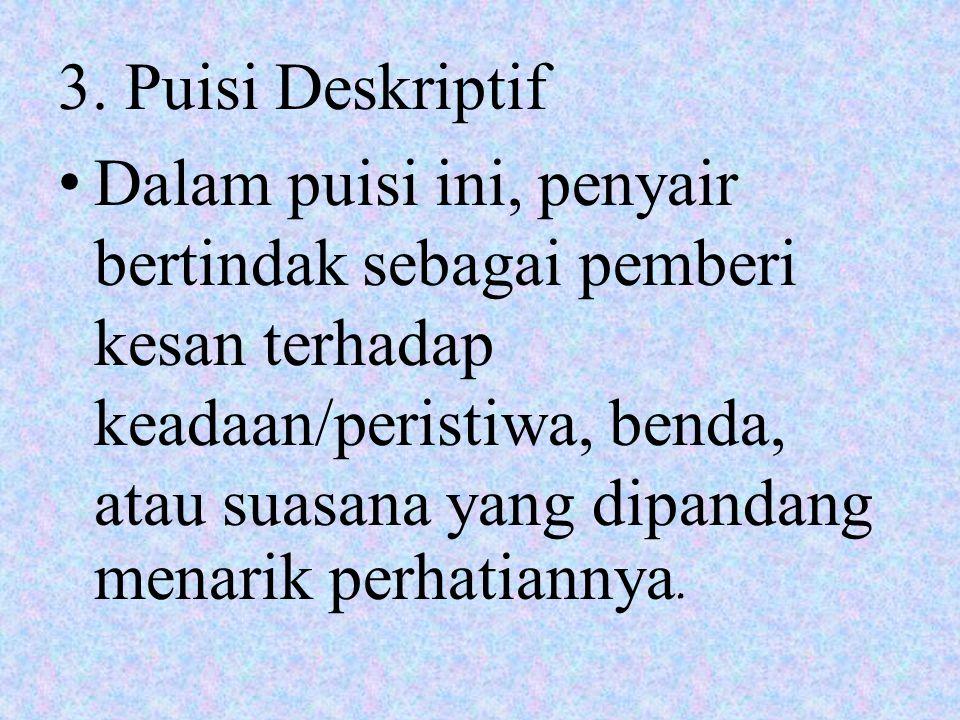 3. Puisi Deskriptif