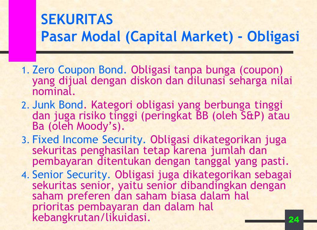 SEKURITAS Pasar Modal (Capital Market) - Obligasi