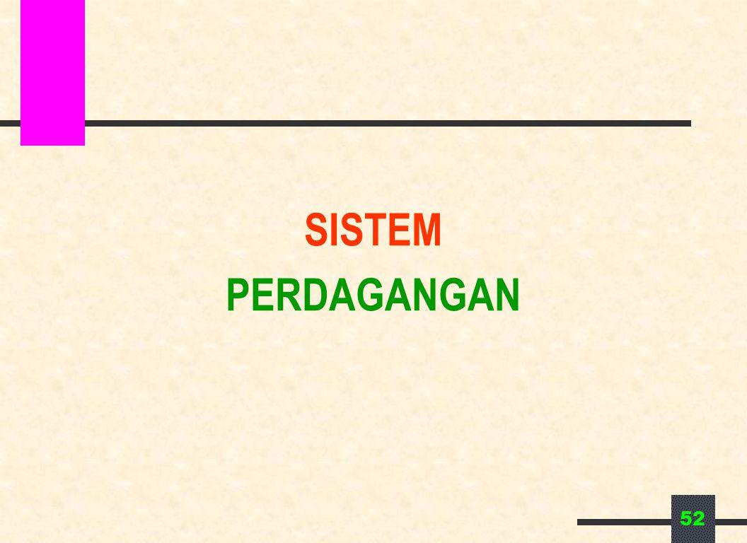 SISTEM PERDAGANGAN