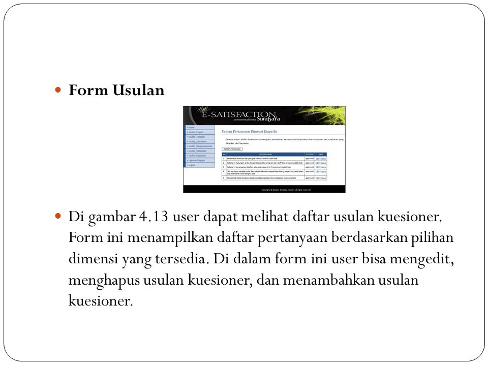 Form Usulan