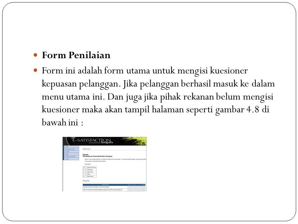 Form Penilaian