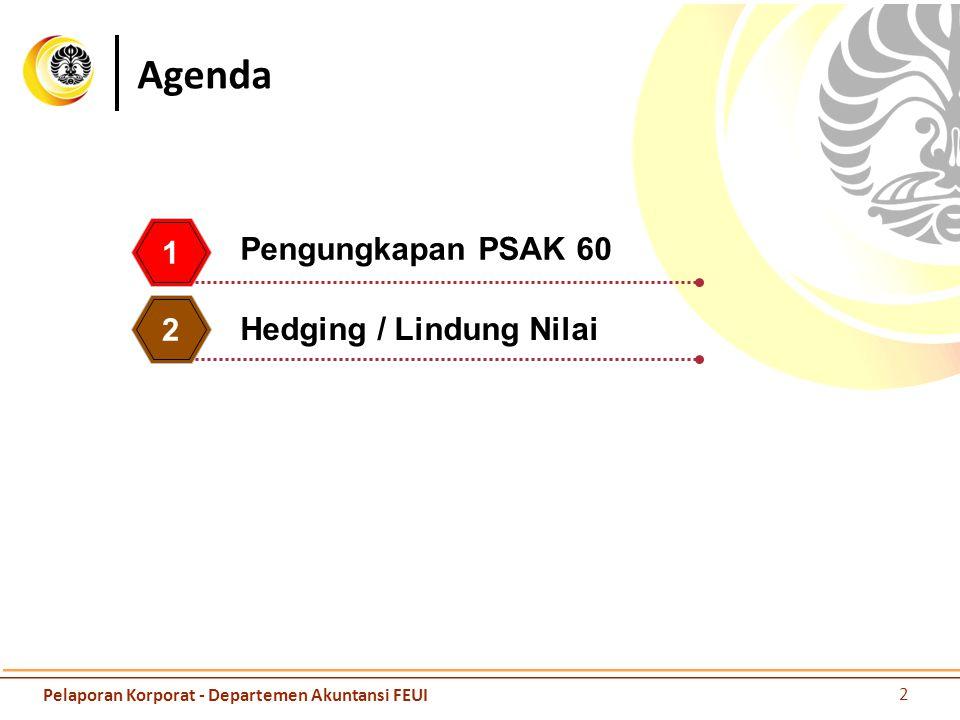 Agenda Pengungkapan PSAK 60 1 2 Hedging / Lindung Nilai