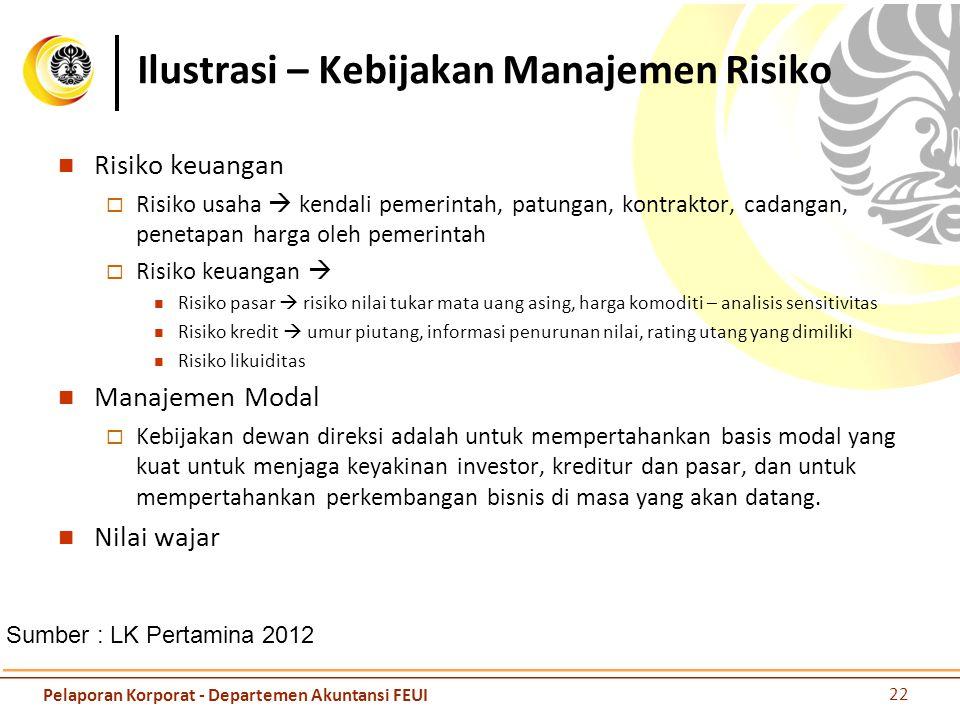 Ilustrasi – Kebijakan Manajemen Risiko