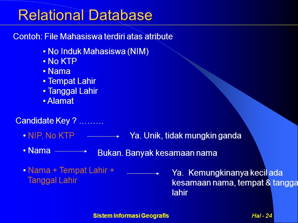 Sistem Informasi Geografis Hal - 24