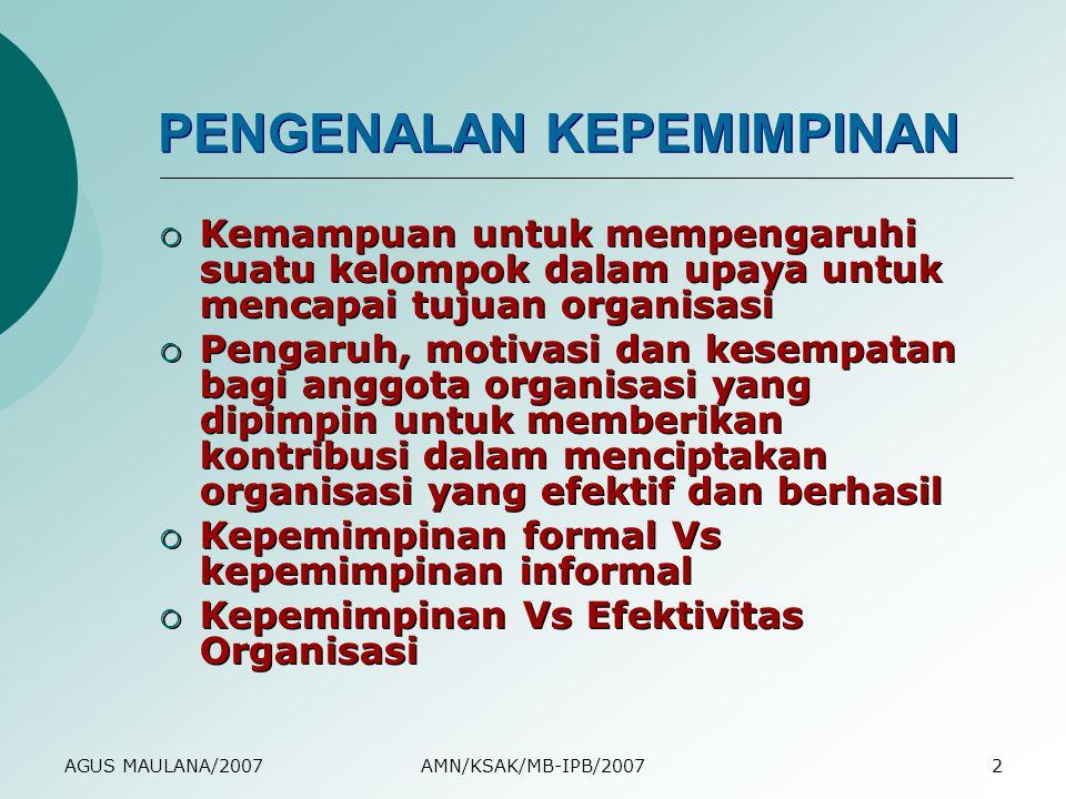 PENGENALAN KEPEMIMPINAN