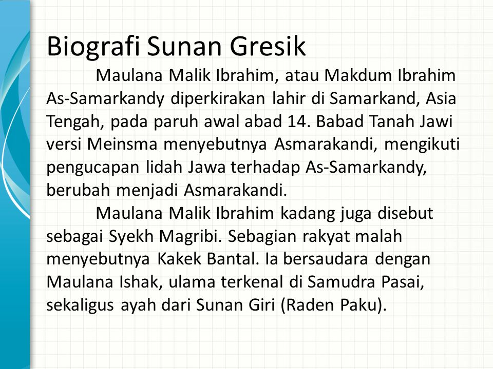 Biografi Sunan Gresik