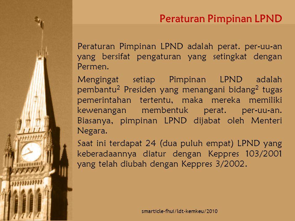 Peraturan Pimpinan LPND